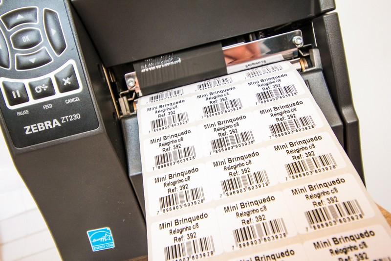 Etiqueta para impressora zebra